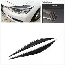 2Pcs Durable Carbon Fiber Headlights Eyebrows Sticker For BMW F30 320i 325i 316i