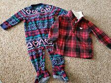 Baby/toddler boy Clothes Size 12 Months,  Boy Christmas Sleeper, Fleece Pullover