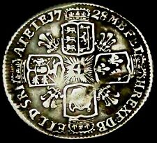 a3: 1728 George II Silver Sixpence - young head, Spink 3707