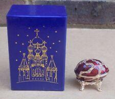 ATLAS EDITIONS Decorative Egg Enamel Trinket Box - Revival