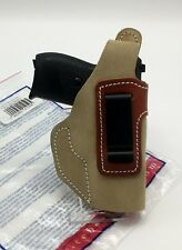 Cebeci IWB & OWB Brown Suede Holster Fits Walther PP / PPK; Sig P232 Right RH