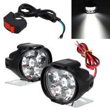 2x 24W Motorrad Roller ATV LED Scheinwerfer Fahrlicht Assist Lampe mit Schalter