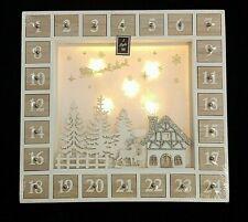Straits Led Light Up Advent Calendar Christmas Decoration 33 x 31cm 25214 New