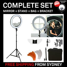 """Dimmable Diva LED Ring Light 19"""" / 48.5cm 55W Mirror and Stand Make Up Studio"""