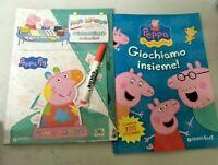 Lote Cuadernos Gioco Peppa Pig Marcador Mágico 200 Pegatinas Colores Dibujo