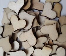 100 HEARTS WOODEN FOR WEDDING CONFETTI CRAFTING CARD MAKING SCRAP BOOKING