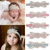 KQ_ KQ_ Baby Girl Kid Flower Leaf Headband Rhinestone Hairband Hair Accessory Gi