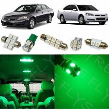 12x Green LED lights interior package kit for 2006-2013 Chevy Impala CI3G
