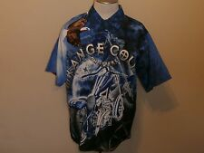 ORANGE COUNTY CHOPPERS BIKE MULTI COLOR SHORT-SLEEVE BUTTON-FRONT POLY REGULAR L