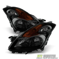 Blk Smoke For 2007-2009 Altima 4Dr Sedan Headlights 07-09 Left+Right Replacement