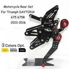 Adjustable Rearset Rear Set Foot Peg Pedal For Trium DAYTONA 675 675R 2013-16