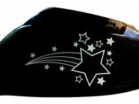 Shooting Stars Car Sticker Wing Mirror Styling Decals (Set of 2), Chrome