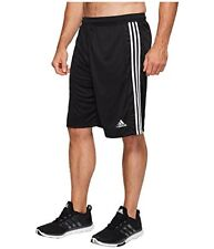 ADIDAS Fran 3S Climalite Training Shorts - Men's 4XL / XXXXL Black/White NWT