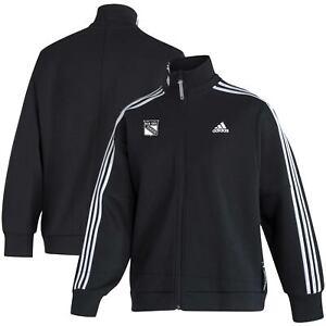 New York Rangers adidas Women's Snap Full-Zip Jacket - Black