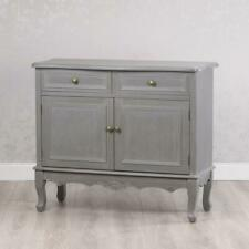 SHABBY CHIC ANTIQUE STYLE FRENCH GREY SIDEBOARD STORAGE CABINET UNIT (GB546)