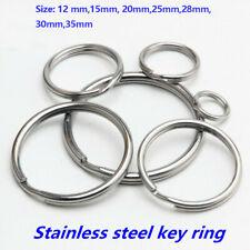 Premium Pack 12//15/20/25/30/35 mm Key Rings Chains Split Ring Hoop Metal Steel