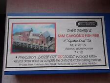 NORTHEASTERN SCALE MODELS SAM CAHOON'S FISH PIER  HO GAUGE CRAFT WOOD KIT NIB