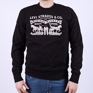 Levi's Schwarz Crewneck Pullover S Small