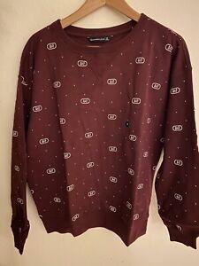 Abercrombie & Fitch Women's Fleece Pullover Logo CrewNeck Sweatshirt Sz M