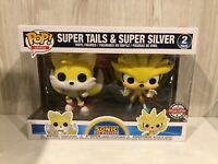 Games Sonic The Hedgehog Super Tails & Super Silver 2020 SDCC Funko Pop