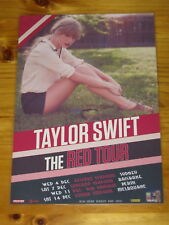 TAYLOR SWIFT - 2013 RED  AUSTRALIA TOUR - LAMINATED PROMOTIONAL TOUR POSTER