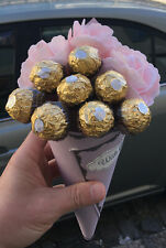 Pink Roses & Chocolates Bouquet Gift Hamper For Any Occassion Birthday Thank You