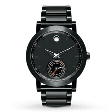 NEW MOVADO 0660002 MUSEUM SPORT MOTION BLACK STAINLESS STEEL MENS SMART WATCH