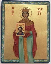 Saint Theodora - Handpainted Christian Orthodox Byzantine Icon