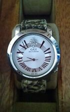 """GGI Stainless Steel """"after 5 collection"""" watch with genuine python banda"""