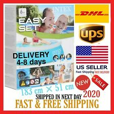 New Intex 6ft x 20in inflatable pool above ground swimming Fast SHIP W/ DHL/UPS