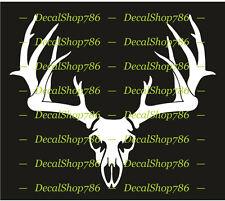 Buck - Deer - Elk Antler - Hunting Sports - Vinyl Die-Cut Peel N' Stick Decals