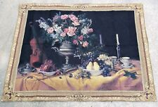 Riddle Home & Gift Floral Grapes Violin Still Life Wall Tapestry 40 x 51