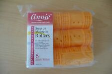 Two Annie Hair Rollers PROFESSIONAL SNAP ON MAGNETIC #1220