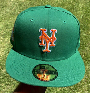 Exclusive New Era New York Mets Anniverseray Green Size 7 3/8 Not Hat Club 🔥