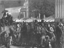 GERMANY. Crowd, Prussian Guards, Serenade, Berlin, antique print, 1872
