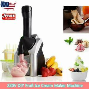 US 220V Electric Frozen Yogurt Fruit Ice Cream Maker Machine Home Easy Clean