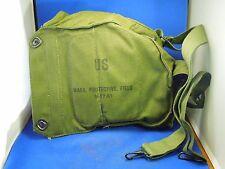 Vintage US L Gas Mask  Bag- Mask, Protective Field M17 A1 ABR W/ Plastic Bag