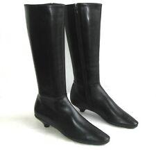 PRADA - Bottes petits talons tout cuir noir 37.5 38 - EXCELLENT ETAT