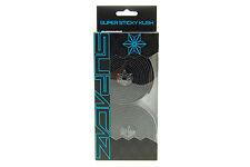 Supacaz Super Sticky Kush Road Bike Handlebar Tape, Black/Galaxy Silver