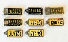 DAV California CA Lot of 8 Plates Tag 1952 - 1959 Disabled American Veterans