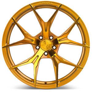 "20"" Rohana RFX5 Gloss Gold Concave Wheels for Audi"