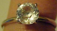 Ring Clear Rhinestone Crystal in Silver Setting