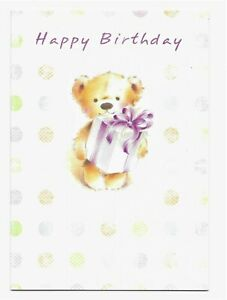 Happy Birthday Cute Teddy Greetings Card For Her/Kids/Friend by Cards For You