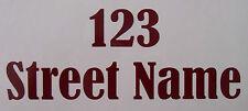 2 Número de Casa & Nombre De Calle Pegatinas Etiquetas de reciclaje Personalizado Wheelie Bin
