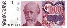 Argentina - Argentina billete nuevo de 1000 australes pick 329 firma 4 UNC