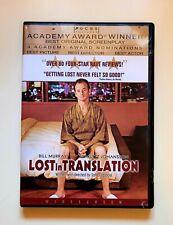 Lost in Translation Dvd Bill Murray Scarlett Johansson Widescreen Free Shipping