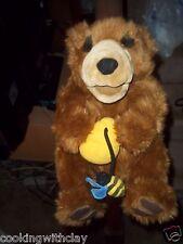 Rare Vintage Dakin Plush Doll Figure Puppet Prop Honey Bear With Honeypot Toy
