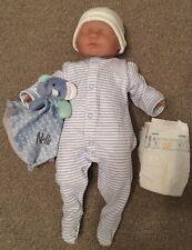 Newborn Sleeping Baby Boy 46cm Doll & Accessories