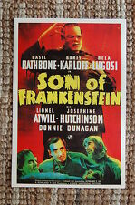Son Of Frankenstein Lobby Card Movie Poster Bella Lugosi Boris Karloff
