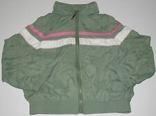 THE GAP Girl's Summer Jacket Windbreaker Green Striped Lightweight Size XS 4-5